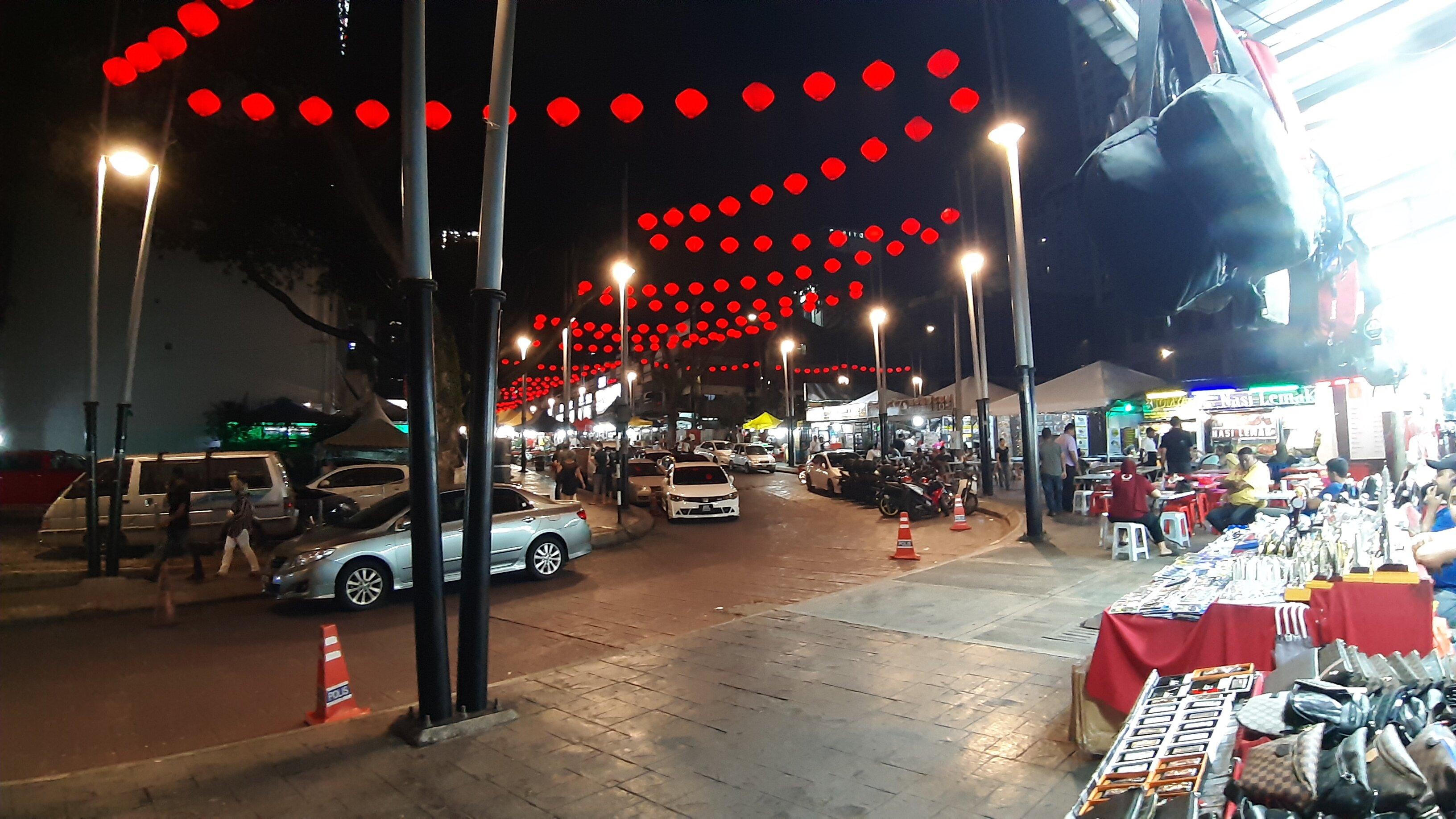 Jalan Alor, from afar.