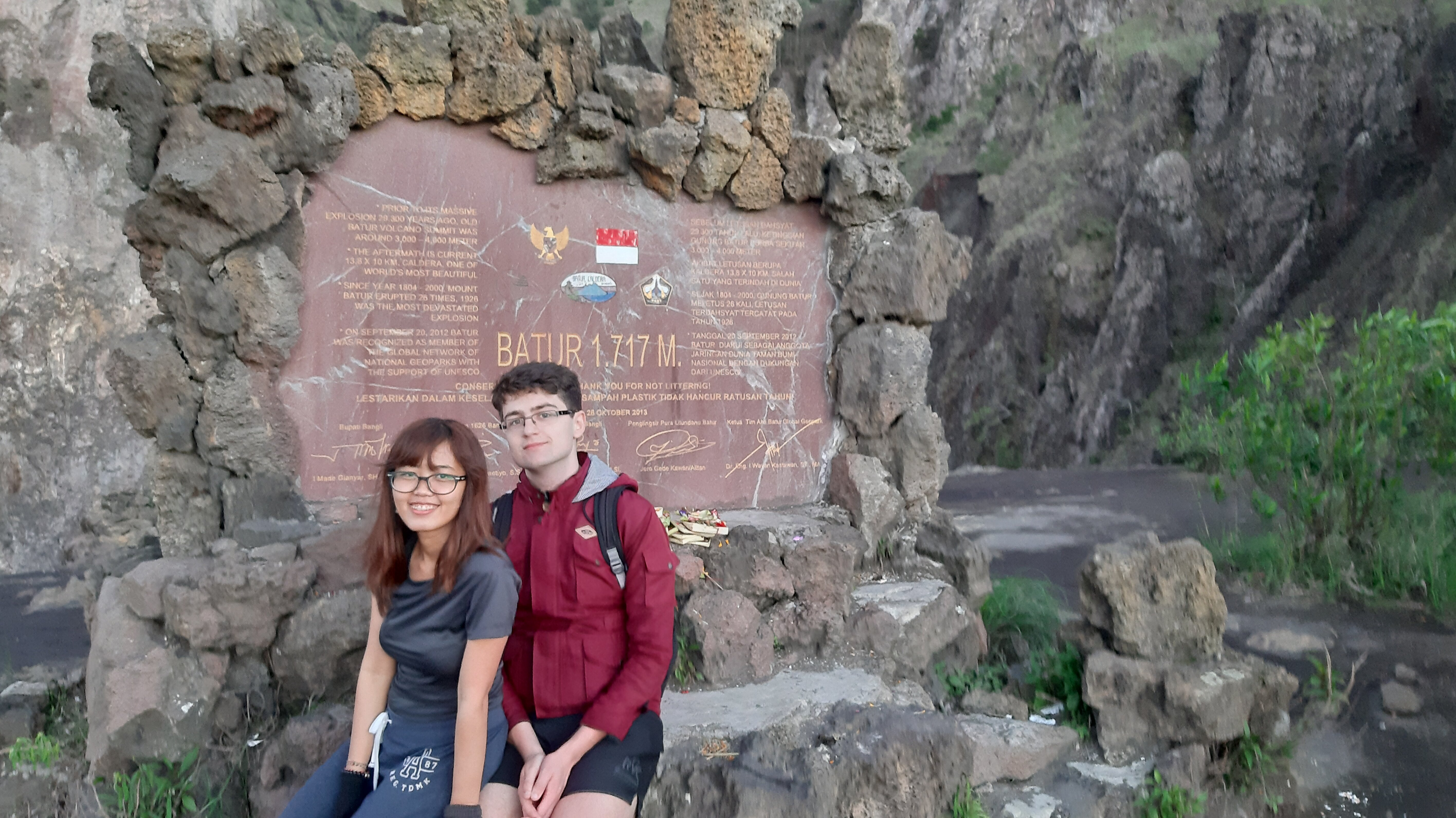 Surprisingly, this fancy monument was not at the summit of Batur.