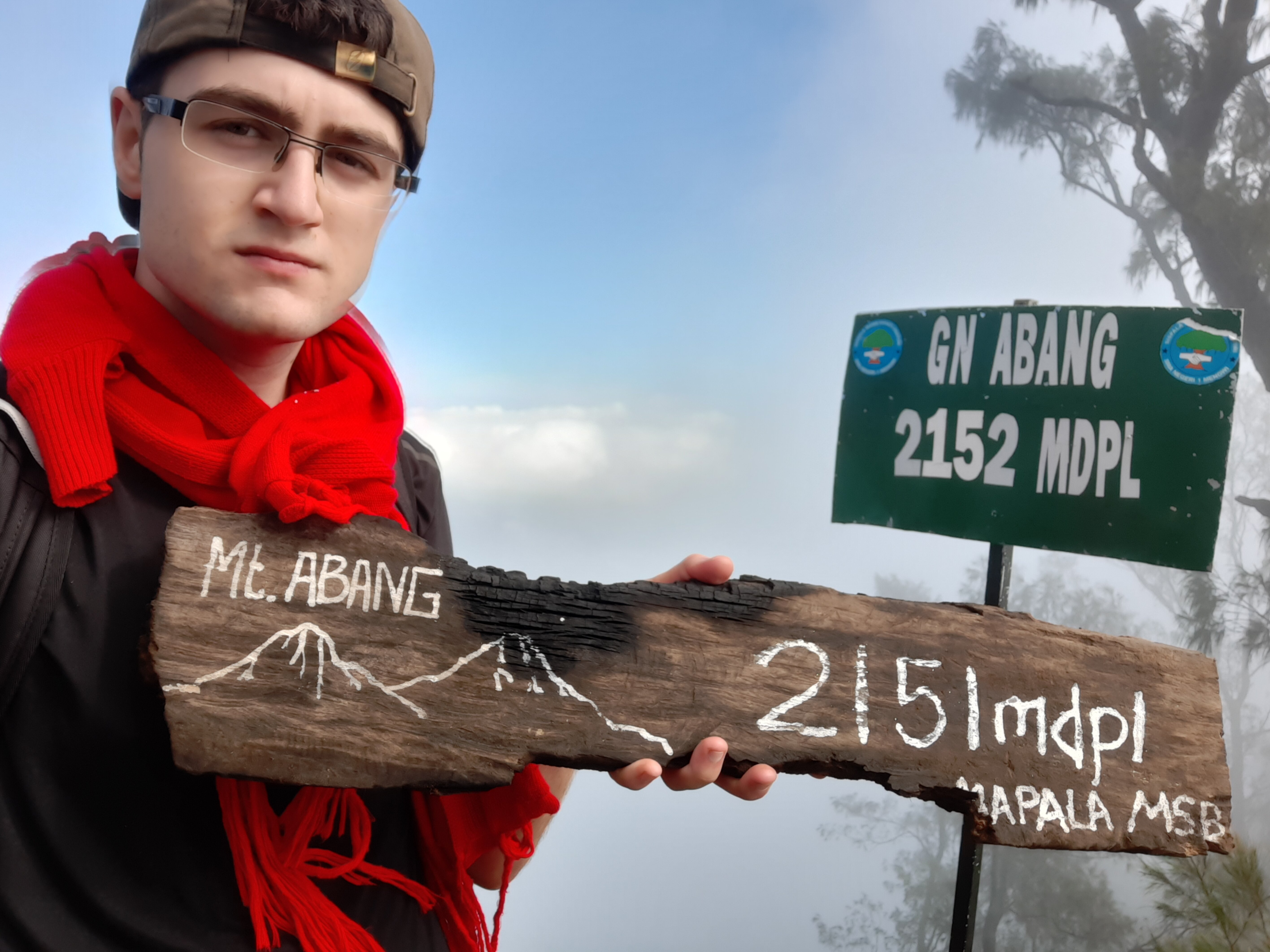 At the summit of Mt. Abang, 2151m above sea level.