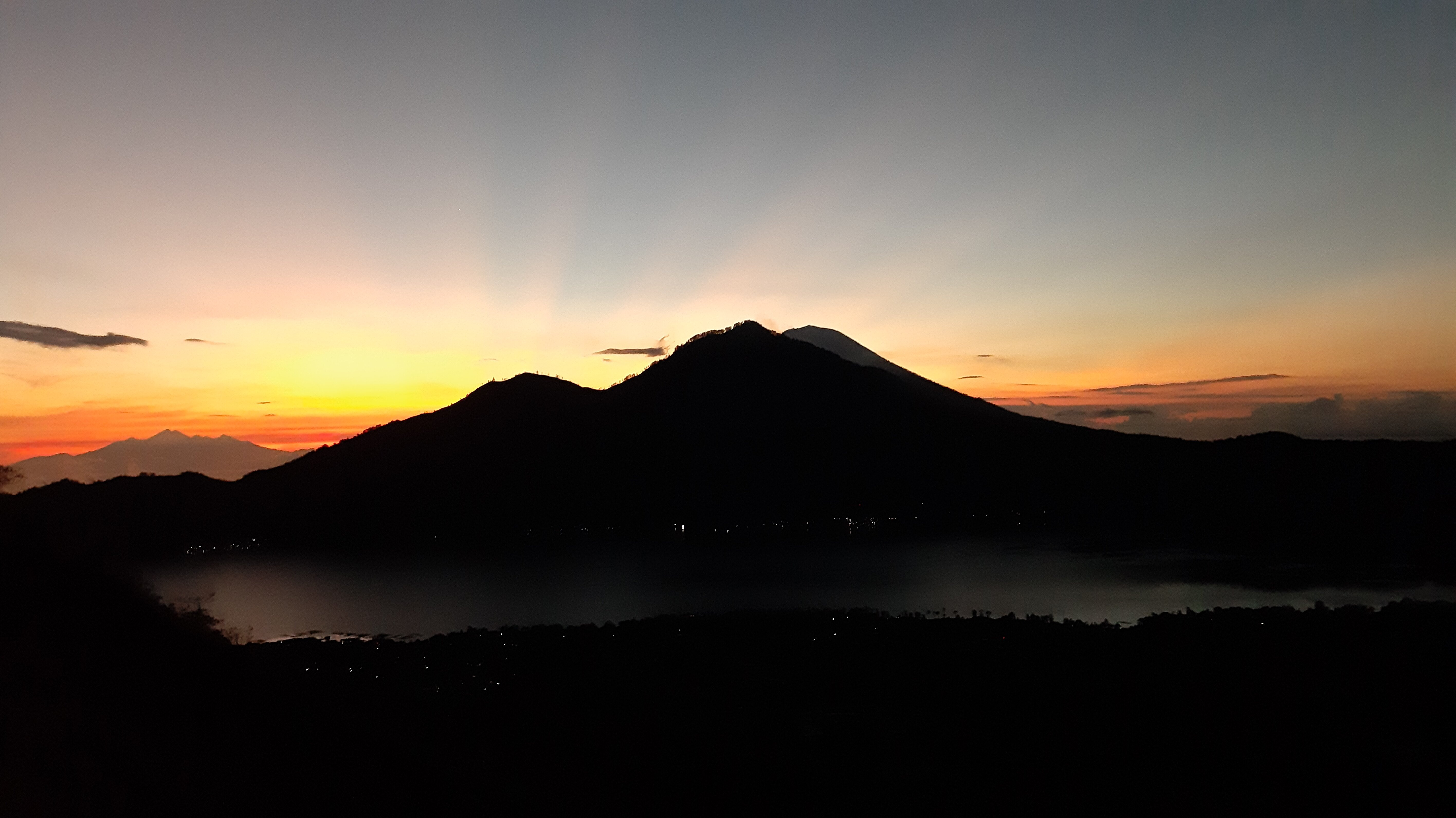 Sunrise over Mt Abang, viewed from Mt Batur.
