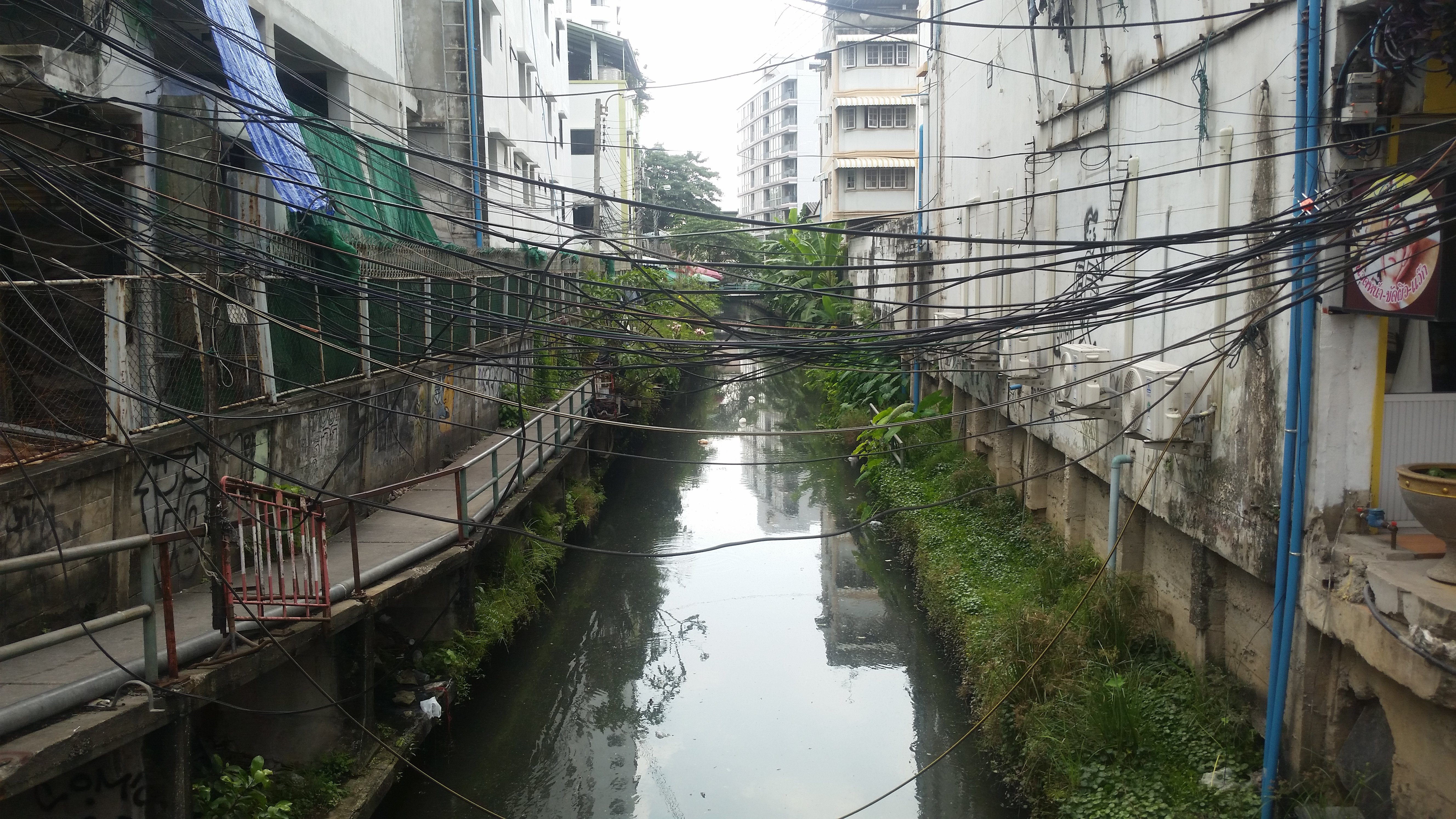 Historically, Bangkok was a city of canals much like Venice. Most were filled in, but many remain.