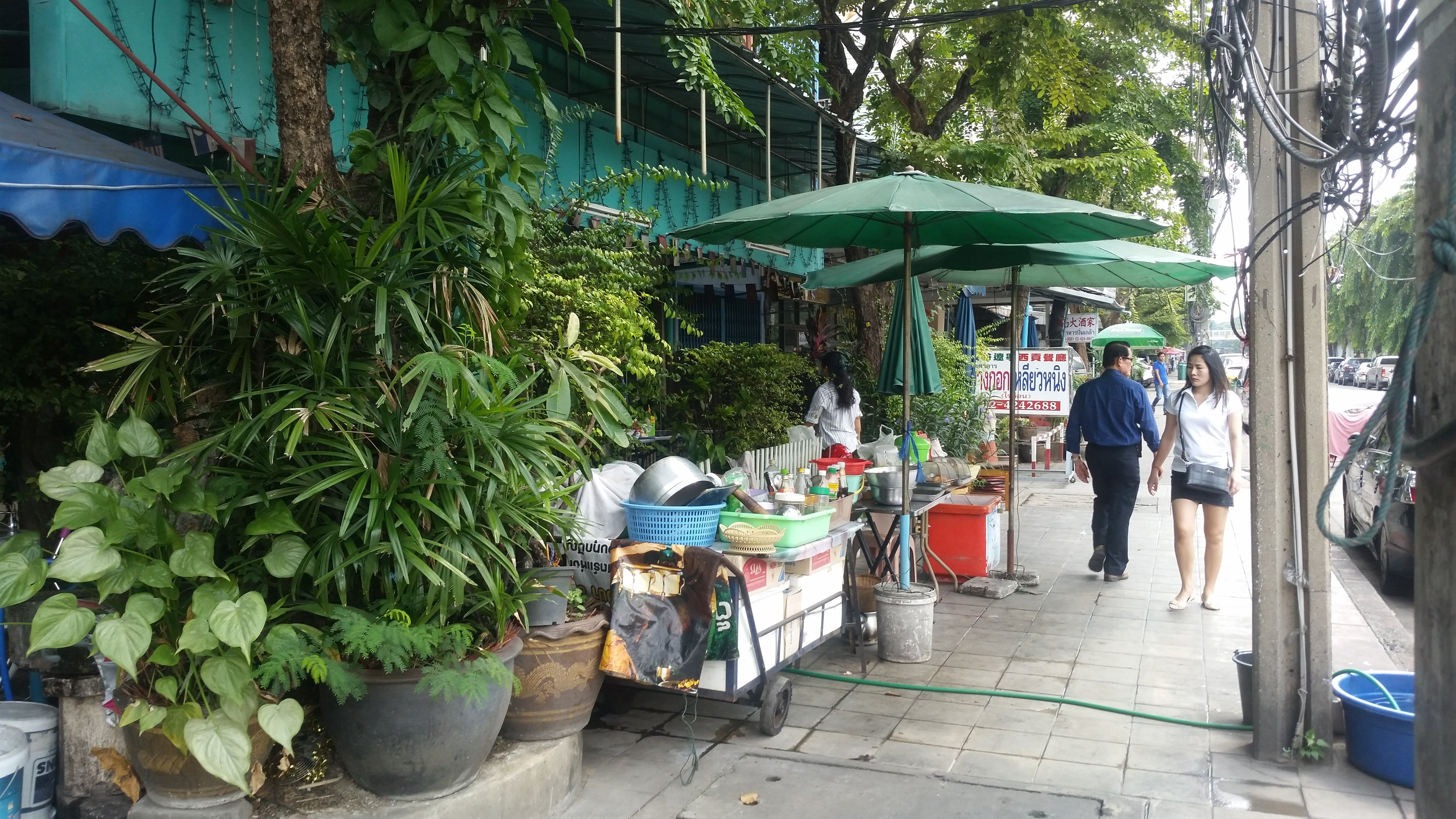 Street food carts, like this one, are on basically every street or corner, even the small ones.