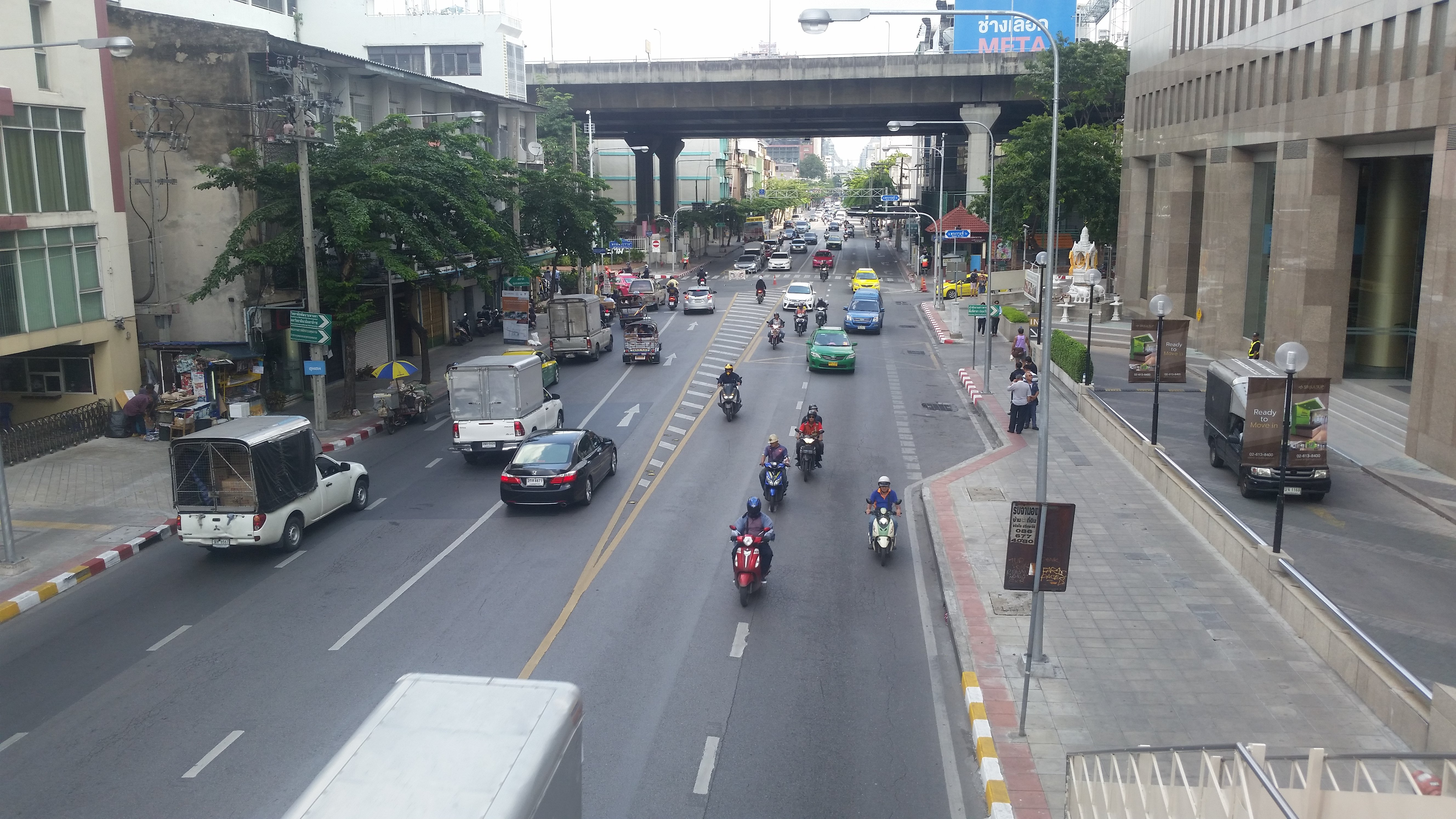View from a pedestrian overpass.