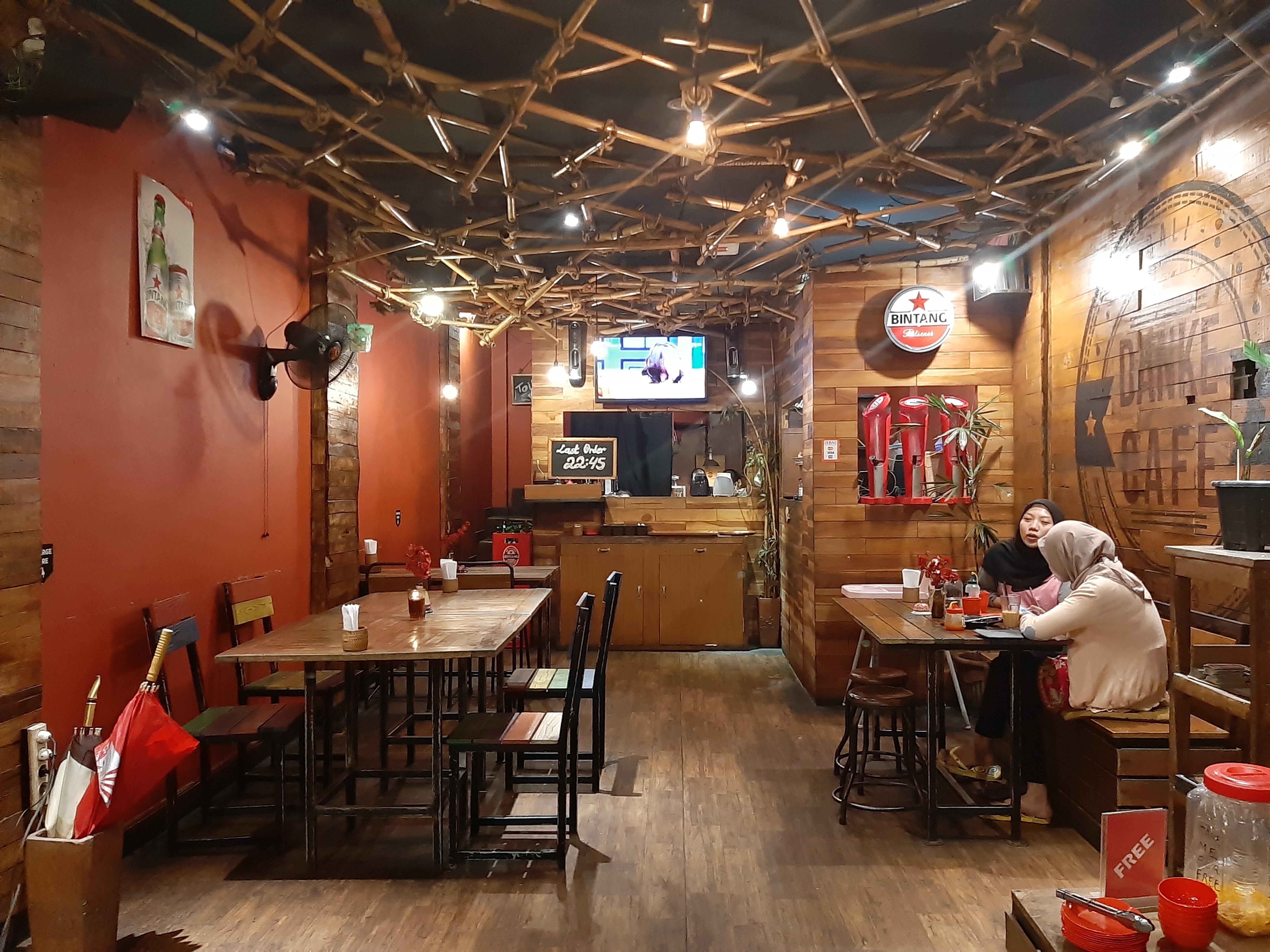 The staff area at Danke Cafe, Tabanan