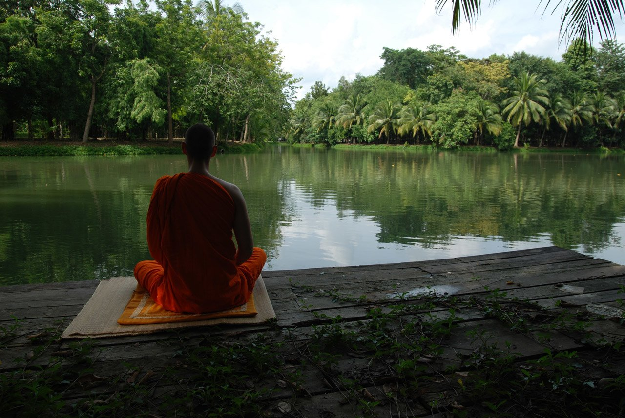 Monks are typically at peace