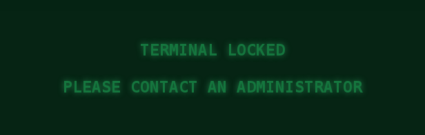 Image of the hacking minigame's lockout screen
