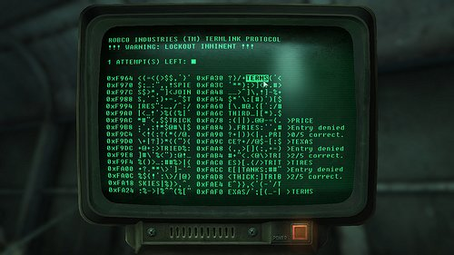 Image of the hacking minigame in Fallout 3