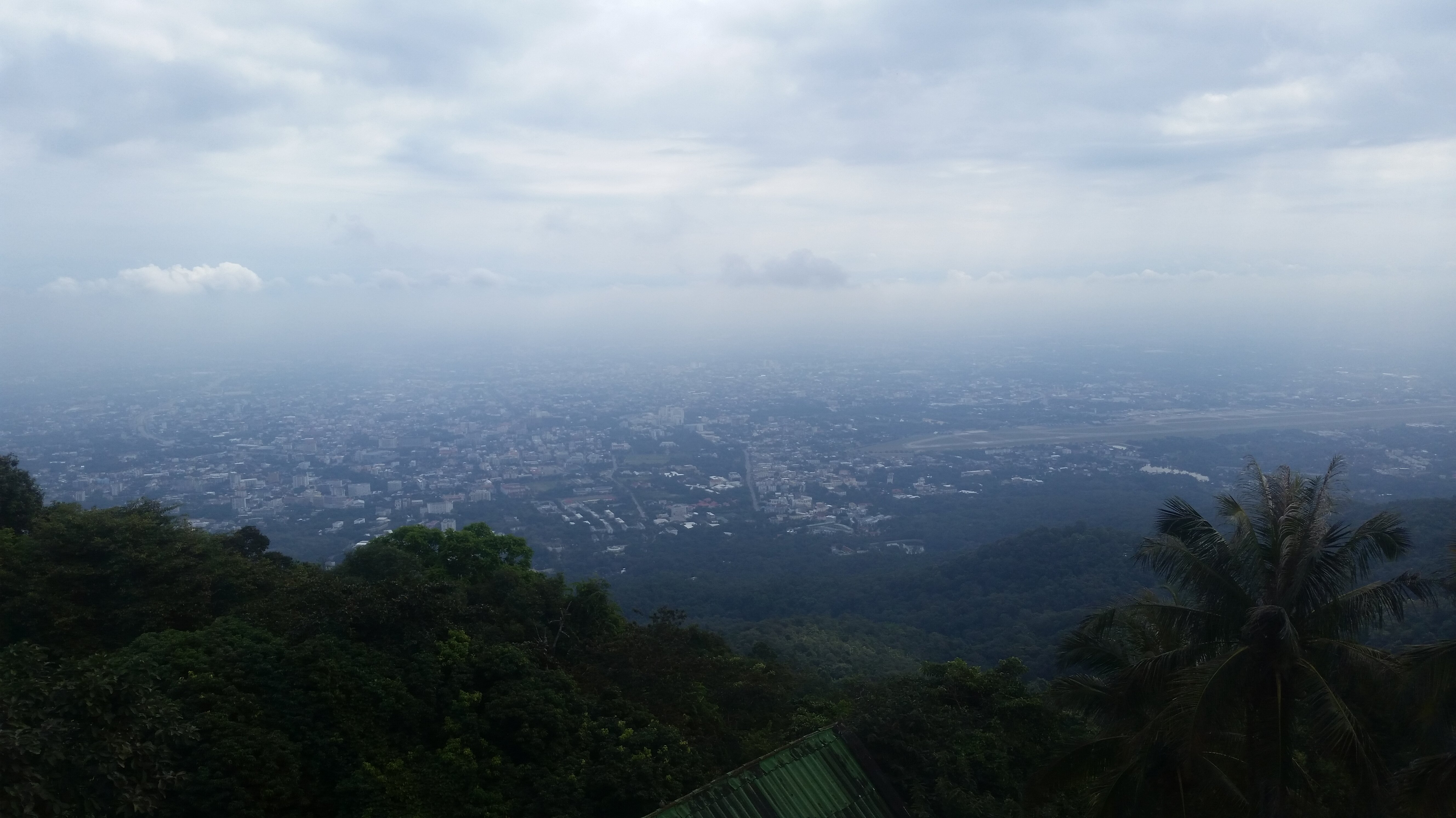 The view of Chiang Mai from Doi Suthep.