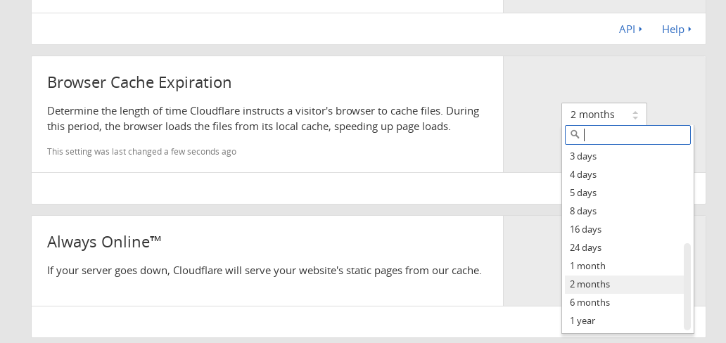 Changing the Cache Expiration on CloudFlare