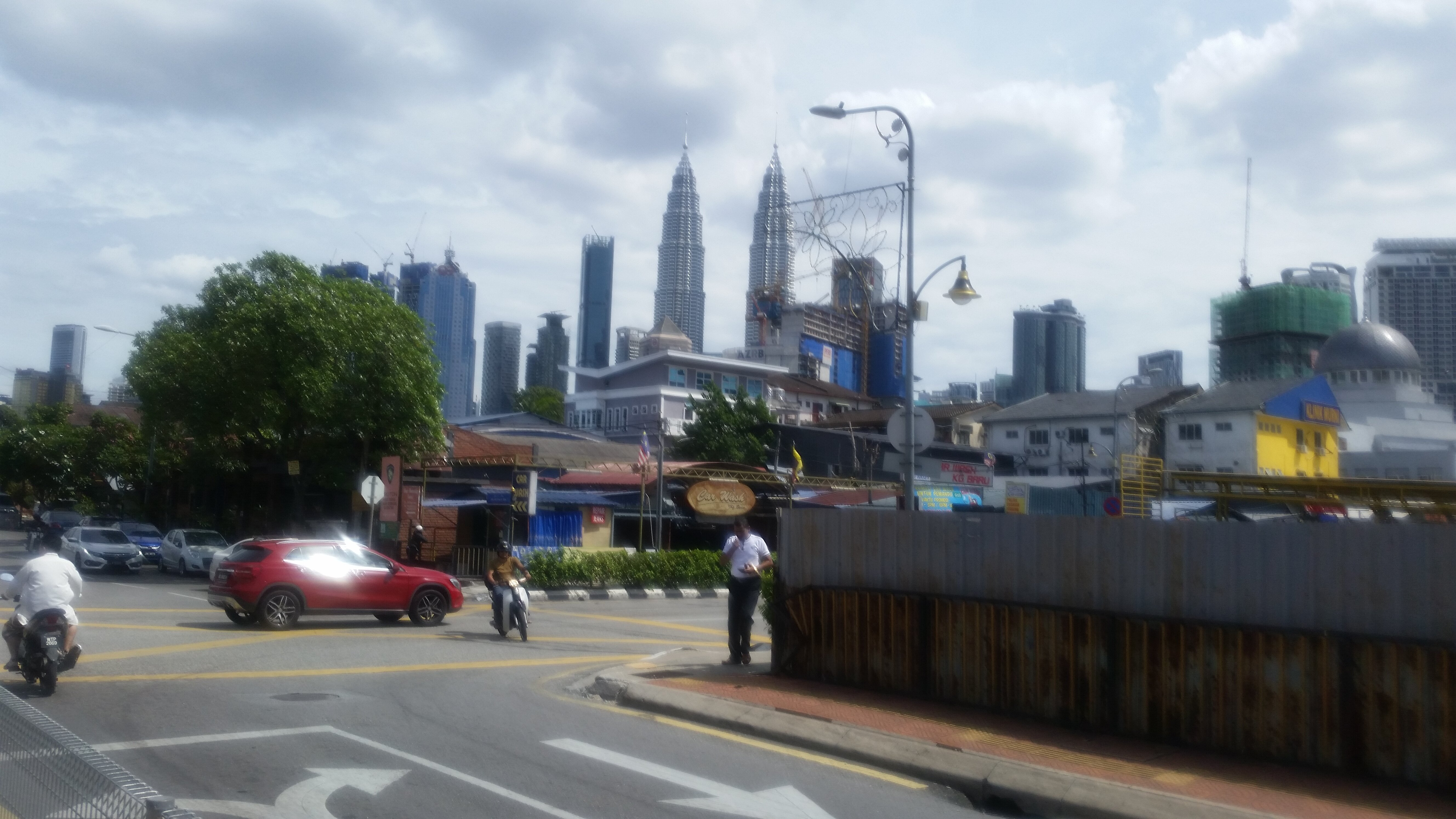 The Petronas Towers from afar.