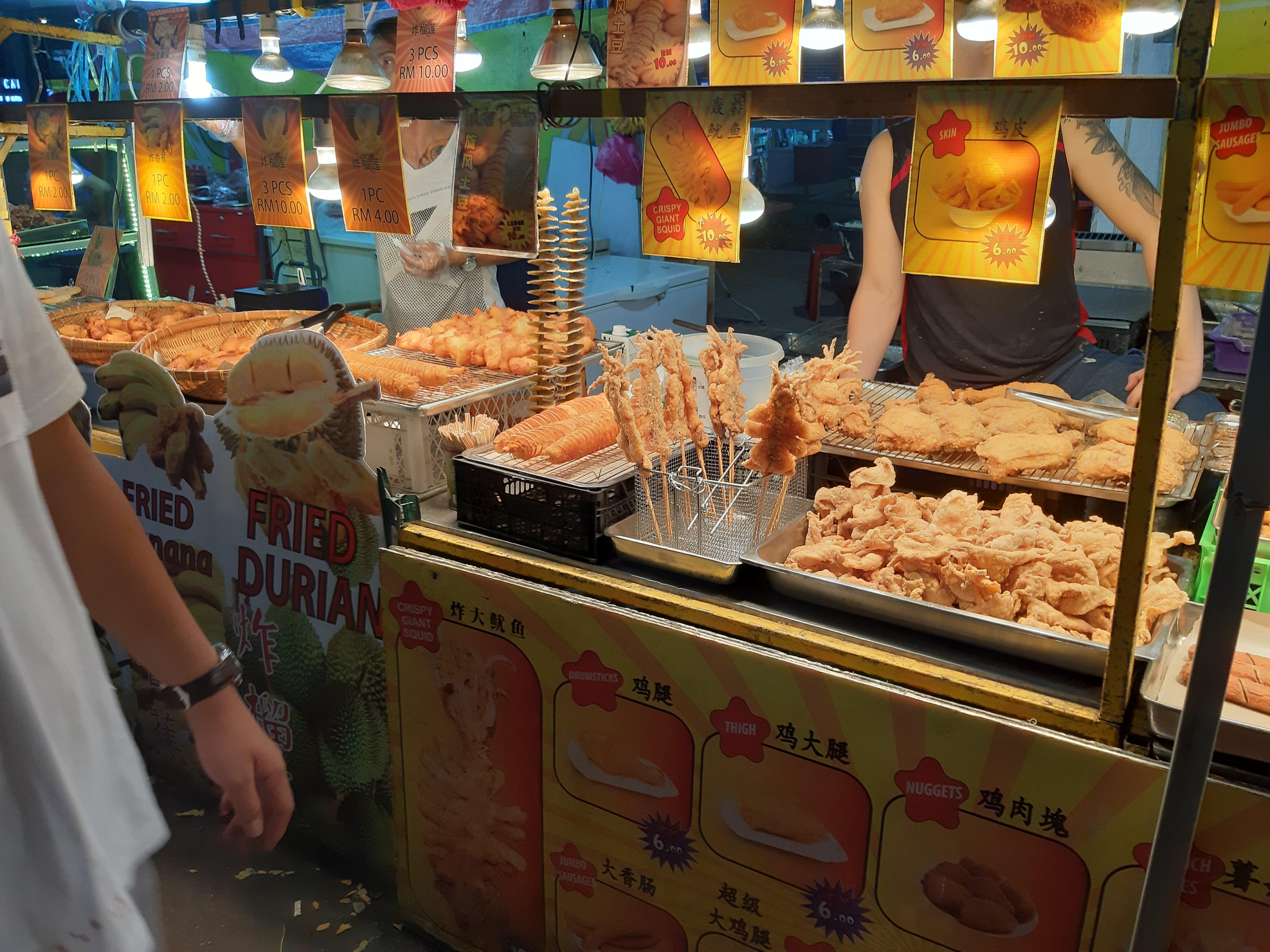 Street food at the Jalan Alor night market