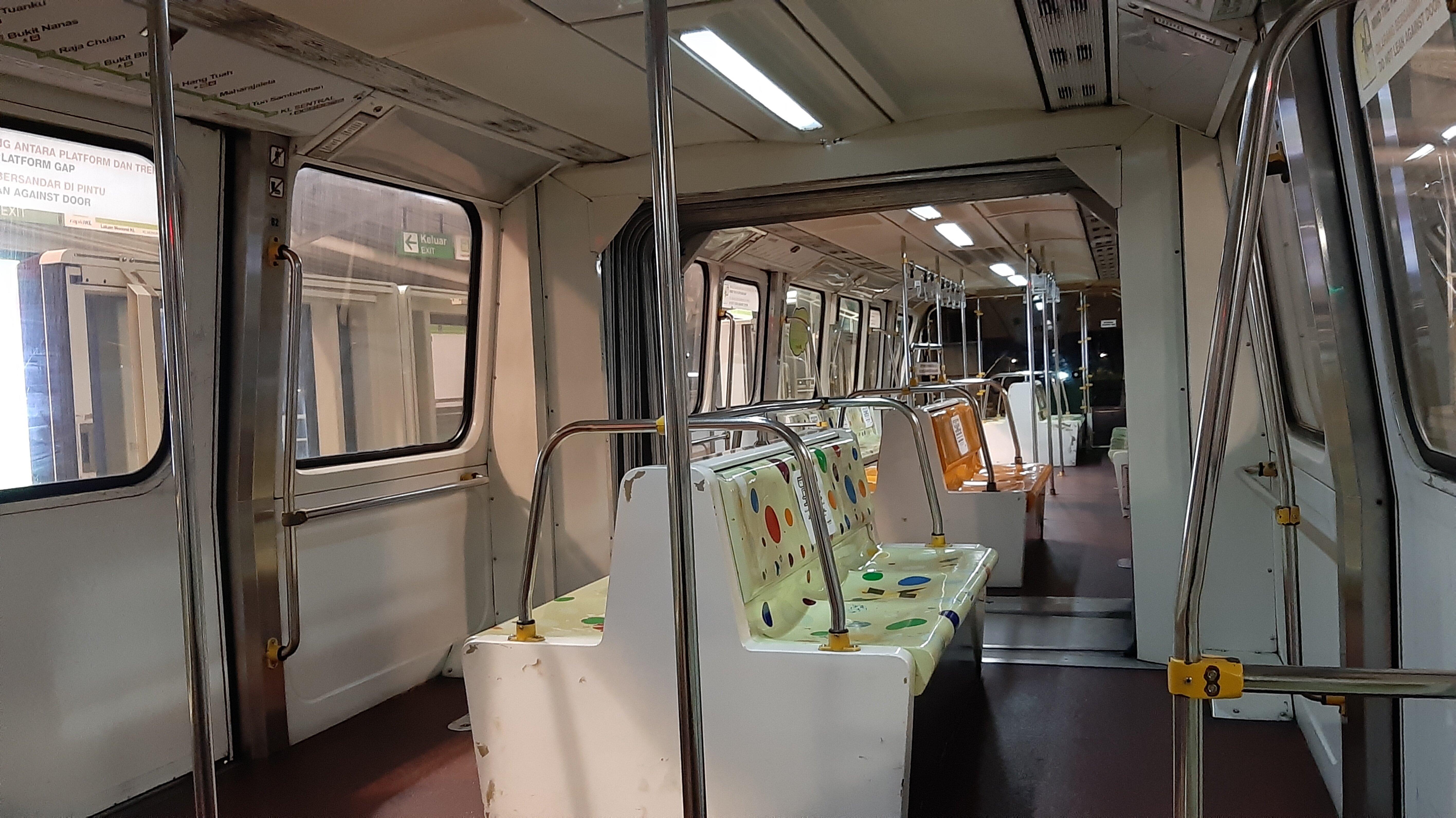 Deserted Kuala Lumpur Monorail during Coronavirus Lockdown.