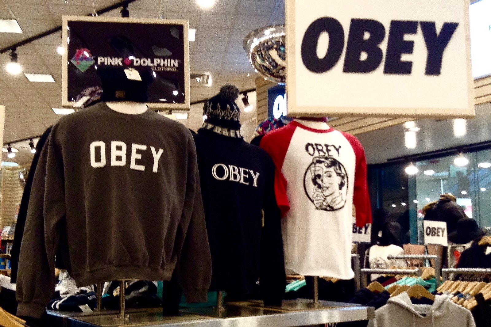 Obey Brand Clothing by Mike Mozart is licensed under CC BY 2.0