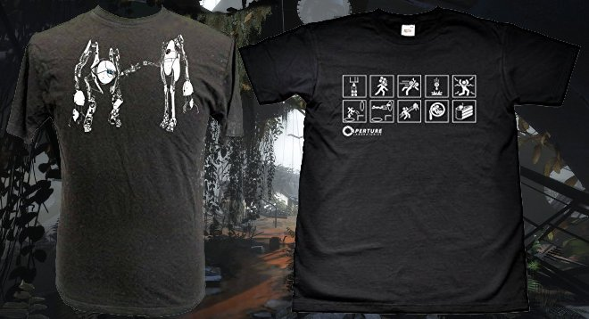 Two instances are these Portal 2 Tees, which I bought in July 2012.