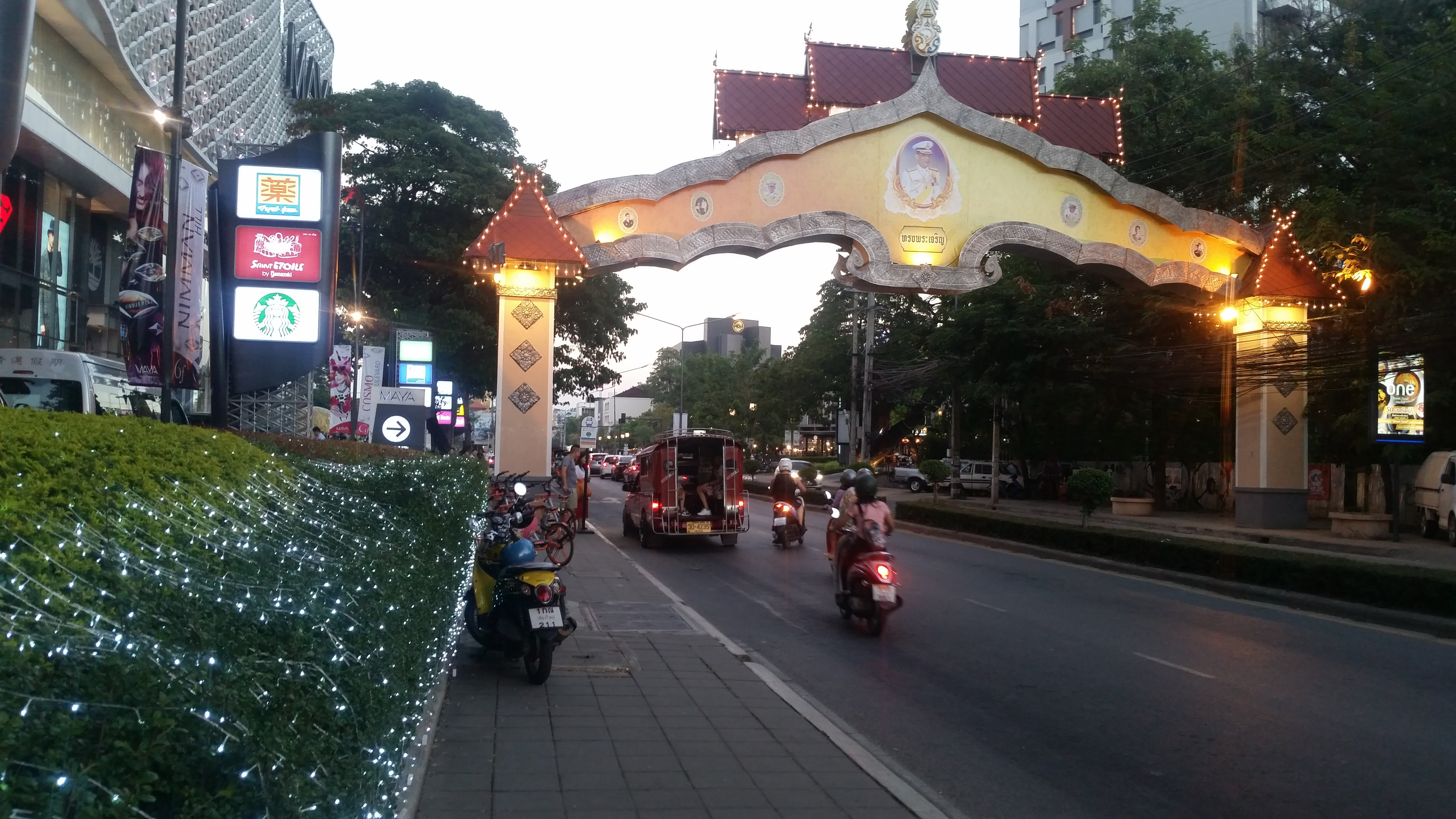 These Red Trucks are called Songthaew, and they transport people like a taxi.