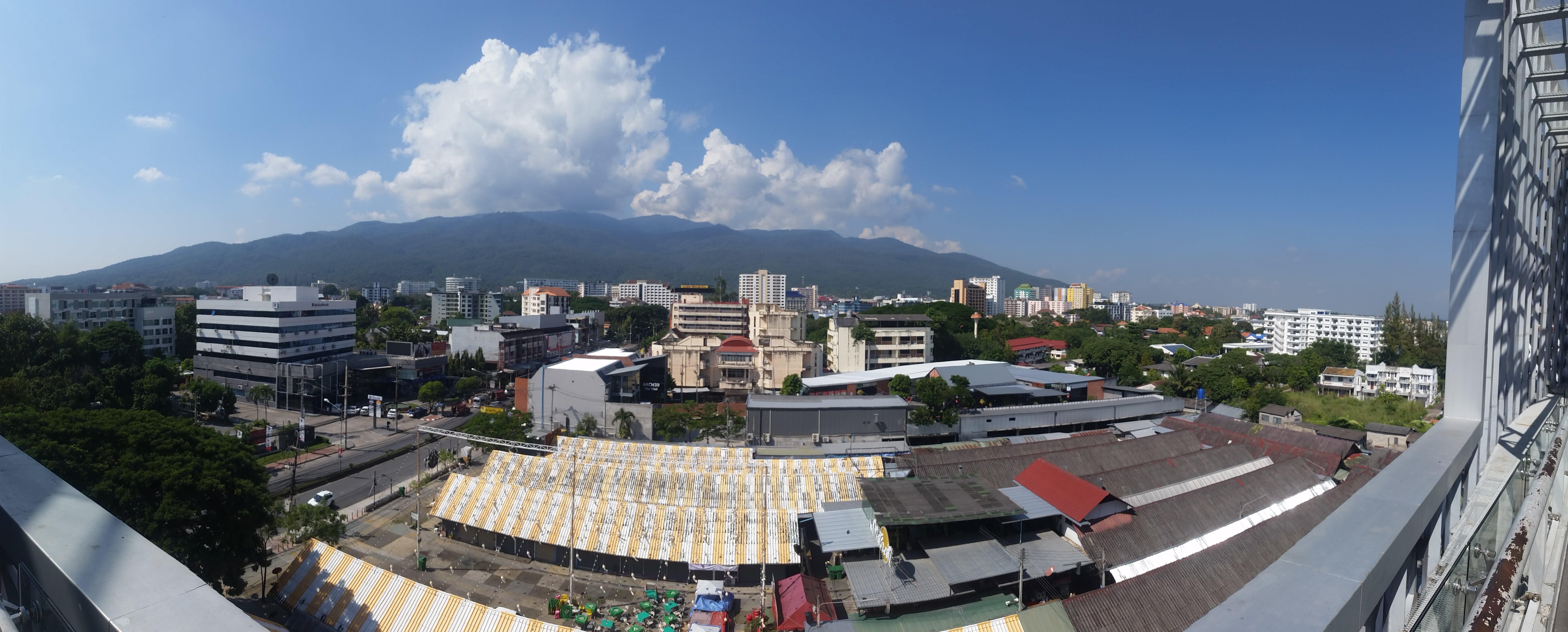 View of Doi Suthep from the Maya shopping center.