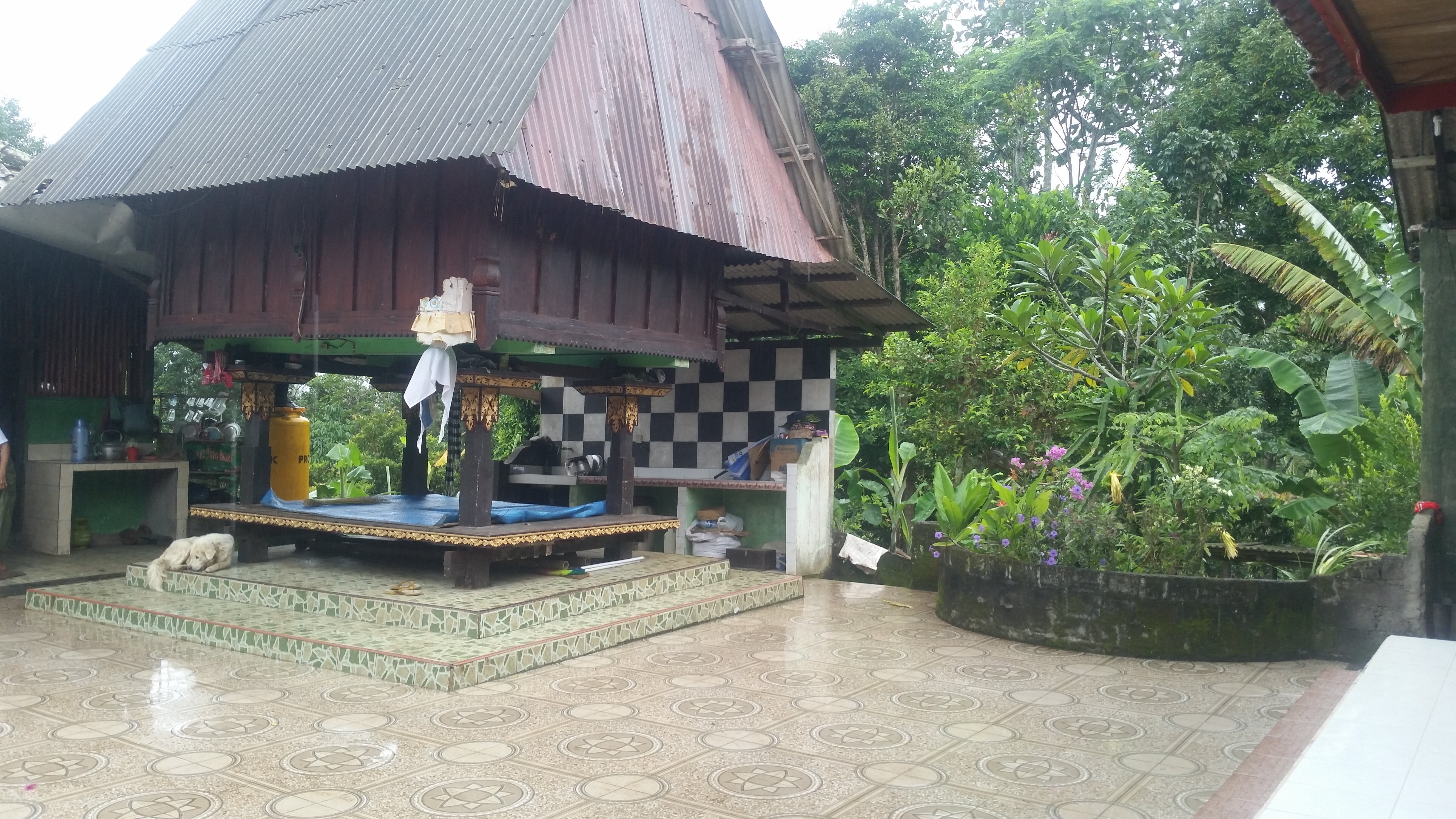 The Lumbung is the central point of a traditional Balinese home.