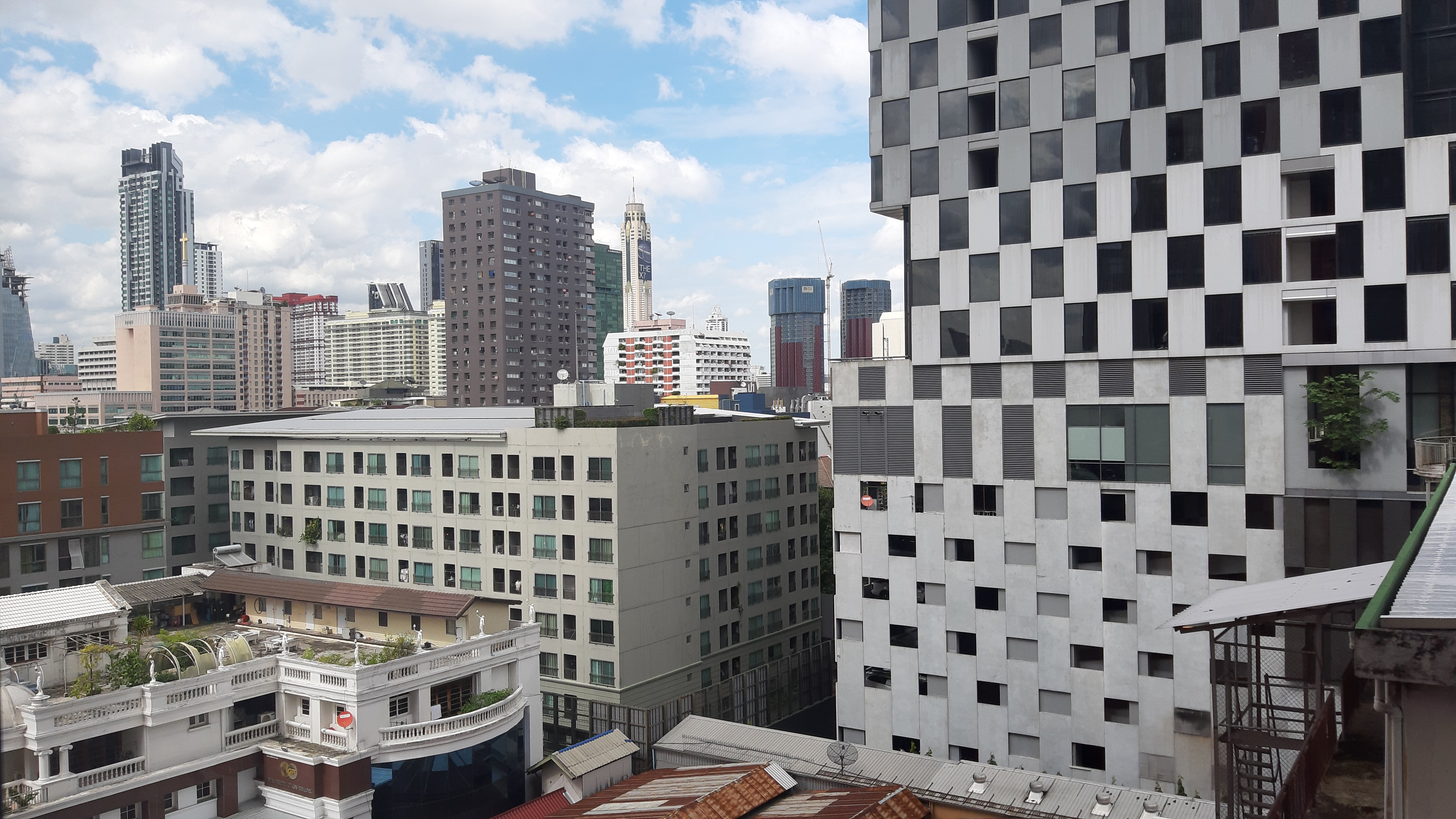 View from my room in Chao Hostel Bangkok.