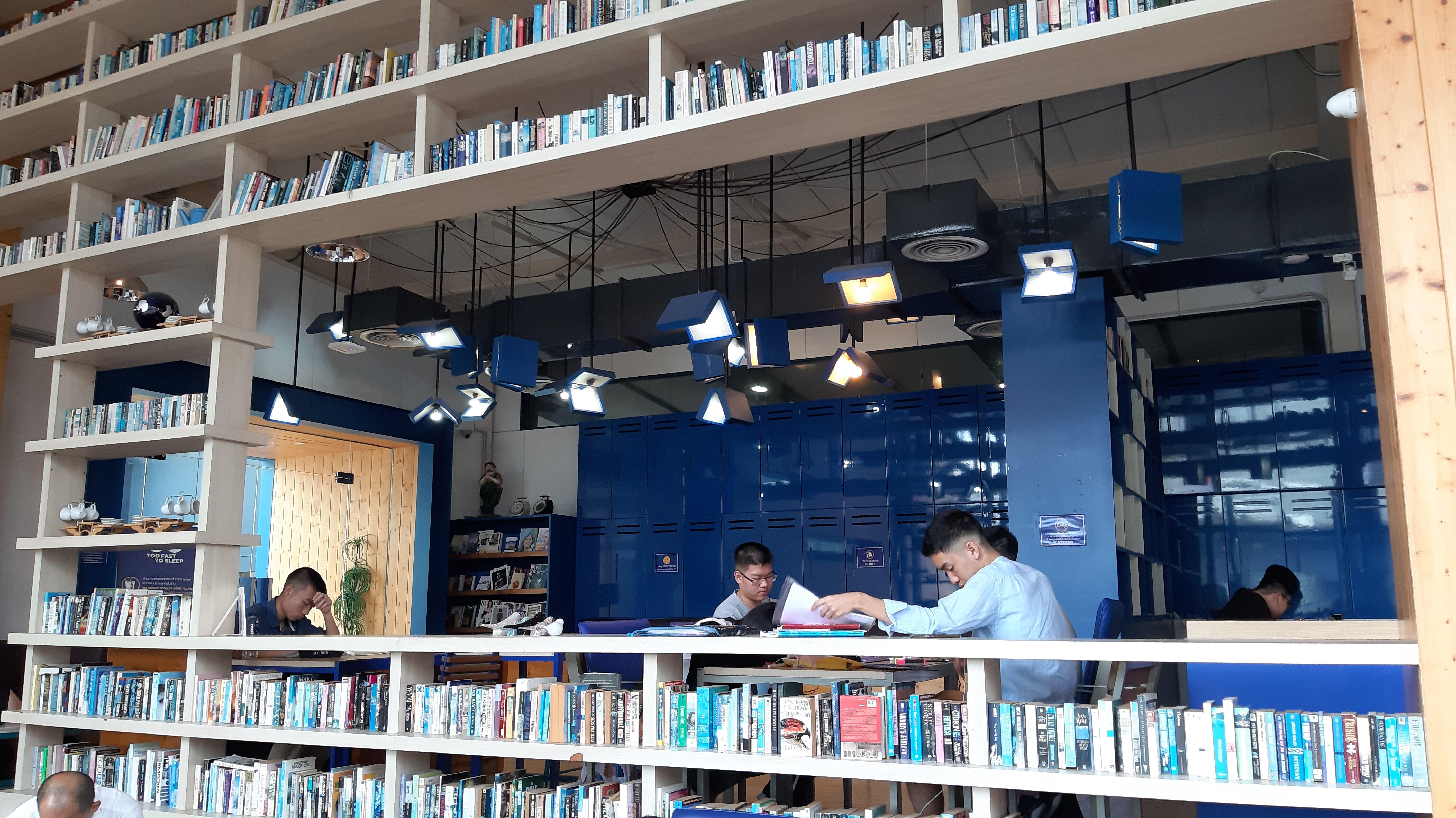 Books and lights-shaped-like-books.