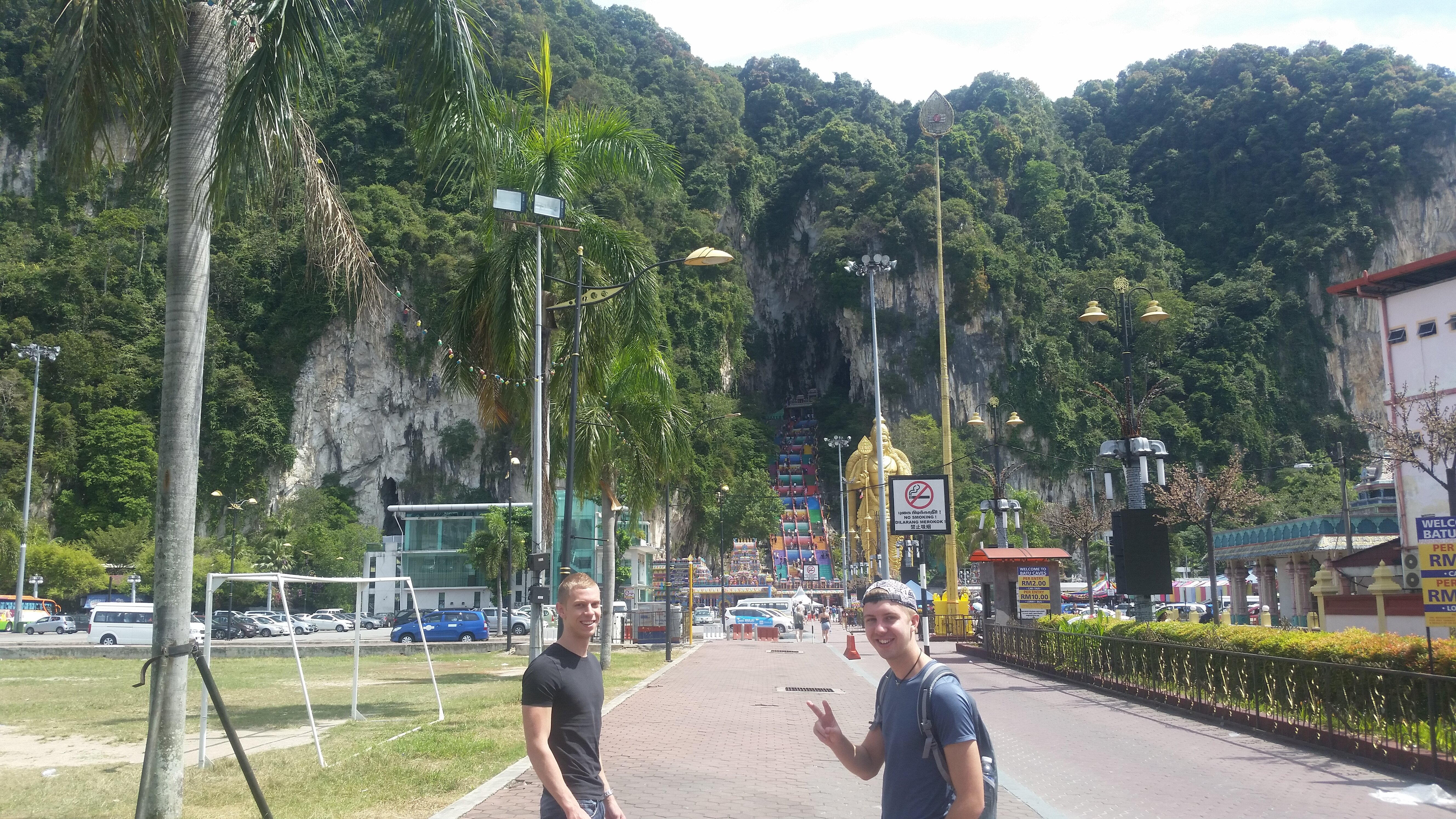 We arrive at Batu Caves.