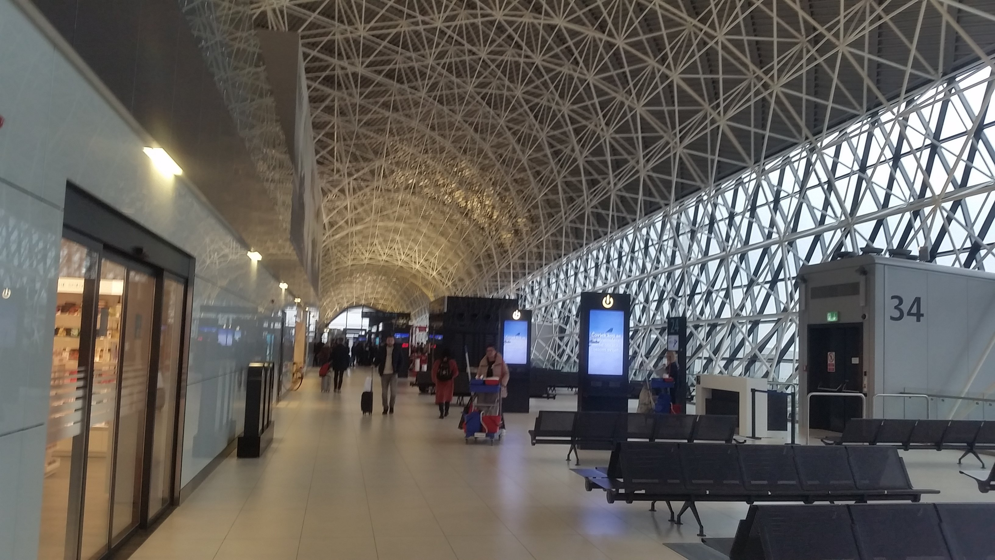 Space-Age Zagreb Airport Departure Lounge.
